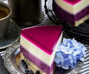 blueberry, cake, and sweet image
