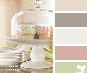 cupcakes, green, and pastels image