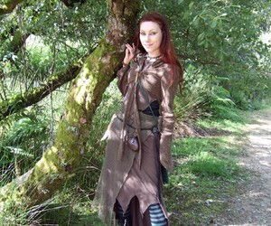 elven, forest, and faerie image