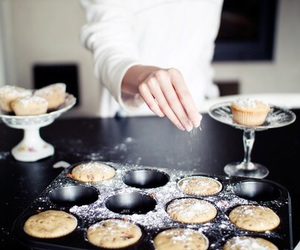 food, muffin, and baking image