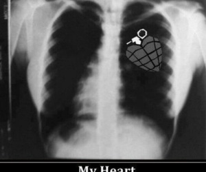 green day, black and white, and heart image