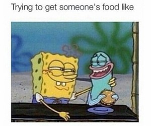 funny, food, and spongebob image