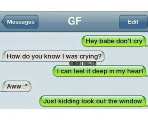 cry, funny, and gf image