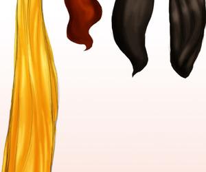 princess, hair, and disney image