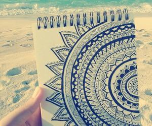 beach, doodles, and zentangle image