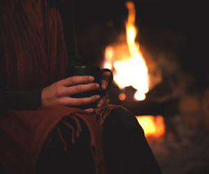 fire, autumn, and winter image