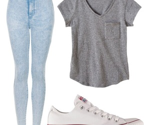 converse, outfit, and casual image