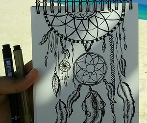 beach, Dream, and zentangle image