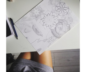 arts, draw, and love image