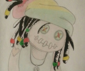 dreads, peace and love, and rasta image
