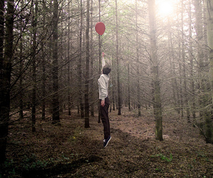 forest, tumblr, and balloon image