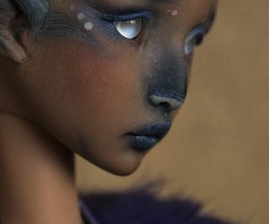 art, black, and doll image