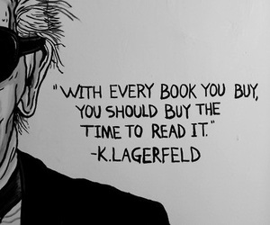 book, quote, and karl lagerfeld image