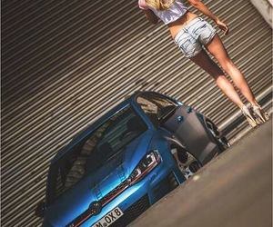 blue, blue car, and girl image