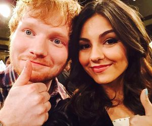 ed sheeran and victoria justice image