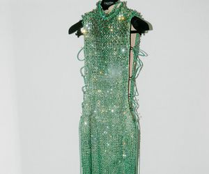 dress, green, and kendall jenner image