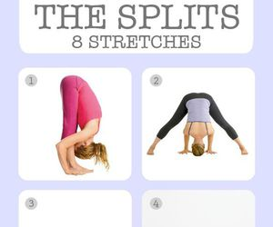 fitness, split, and workout image