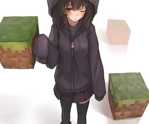 minecraft, anime, and enderman image