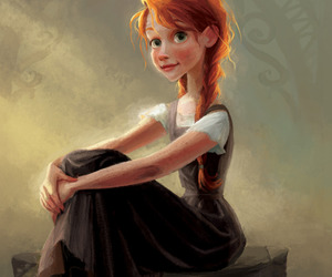 red hair, anne, and painting image