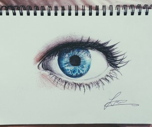 blue, art, and eyes image
