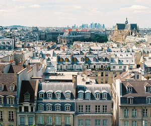 france, paris, and rooftop image