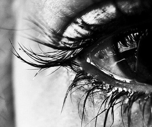 eye, sad, and cry image