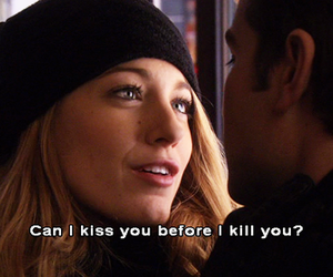 gossip girl, kiss, and serena image