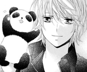 anime, panda, and boy image