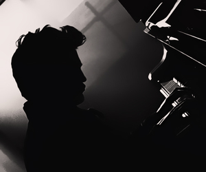black and white and edward cullen image