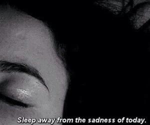 sadness, quotes, and sleep image
