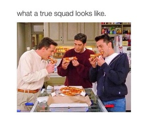 friends, pizza, and funny image