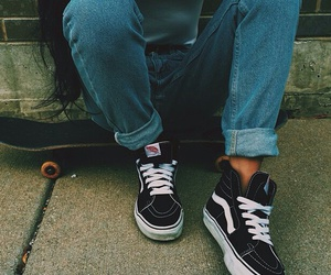 vans, skate, and girl image