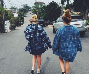 blonde, flannel, and friends image