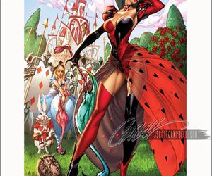 alice, fairy tales, and queen of hearts image