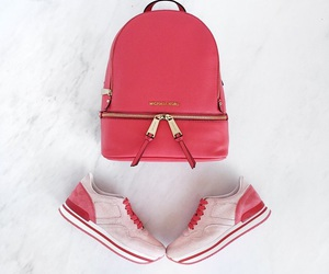 backpack, bag, and coral image
