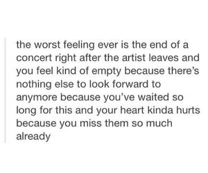 bands, concert, and sad image