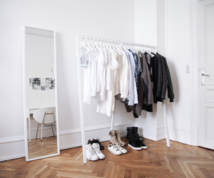 closet, shoes, and white style image