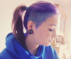 blue, hair, and purple hair image