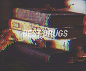 drugs, autumn, and books image