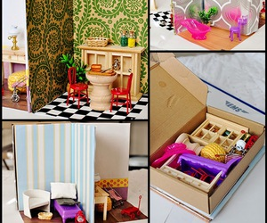 barbie doll, barbie house, and crafts image