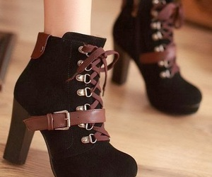 black, fall, and heels image