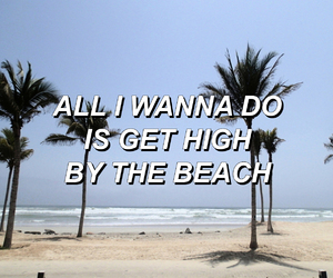 beautiful, lana del rey, and high by the beach image