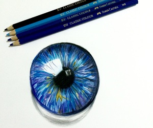coloured, drawing, and pupil image