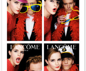 emma watson, lancome, and tom hiddleston image