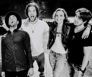 black and white, hard rock, and halestorm image