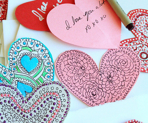 crafts, hearts, and red image