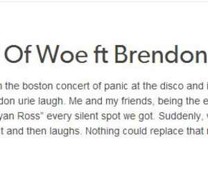 brendon urie, concert, and funny image