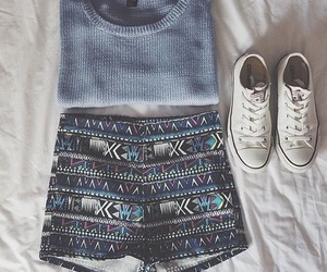 outfit, sweater, and converse image