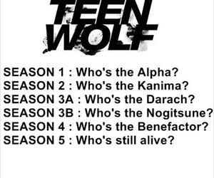 alpha, seasons, and teen wolf image