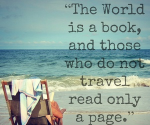 travel, book, and quote image